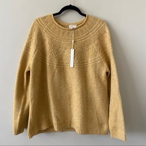 NWT-Caslon Whip Stitch Yellow Pullover Sweater